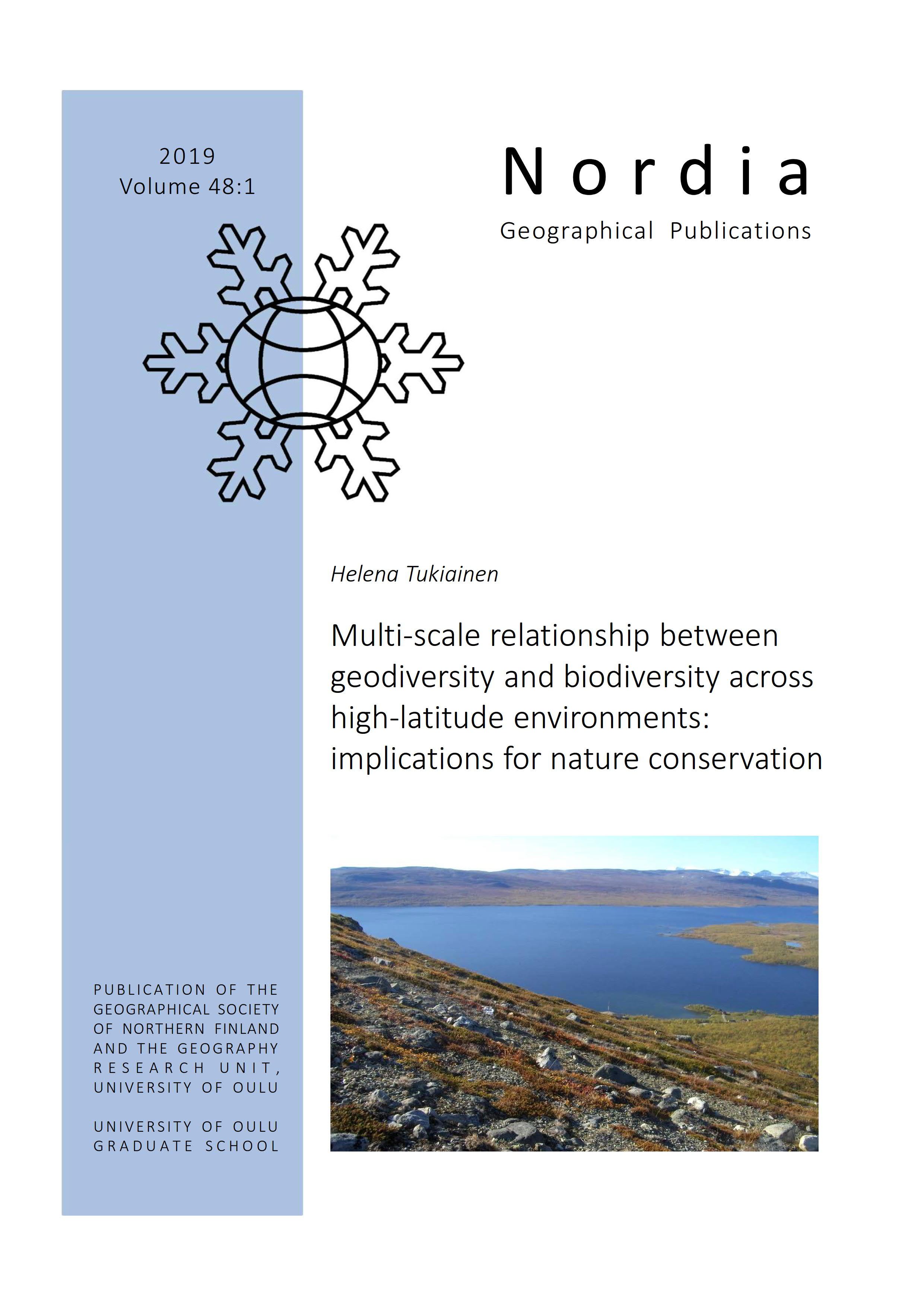 View Vol. 48 No. 1 (2019): Multi-scale relationship between geodiversity and biodiversity across high-latitude environments: implications for nature conservation