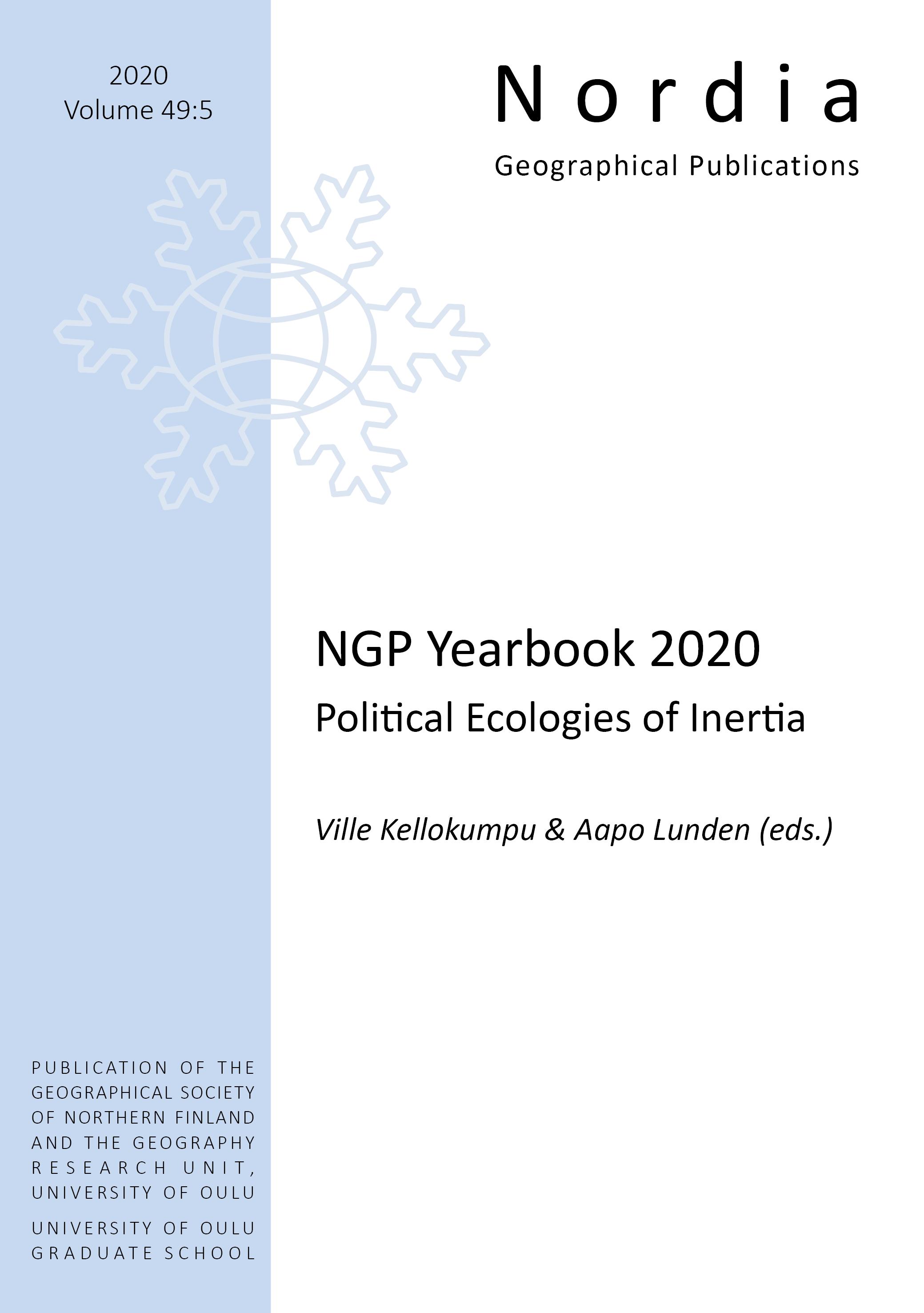 View Vol. 49 No. 5 (2020): NGP Yearbook 2020 Political Ecologies of Inertia